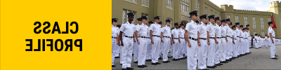 Clickable photo of cadets with text stating Class Profile