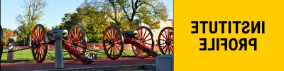 Clickable photo of cannons on Post with text stating Institute Profile