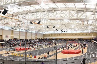 The Keydet Invitational competes in the Corps Physical Training Facility